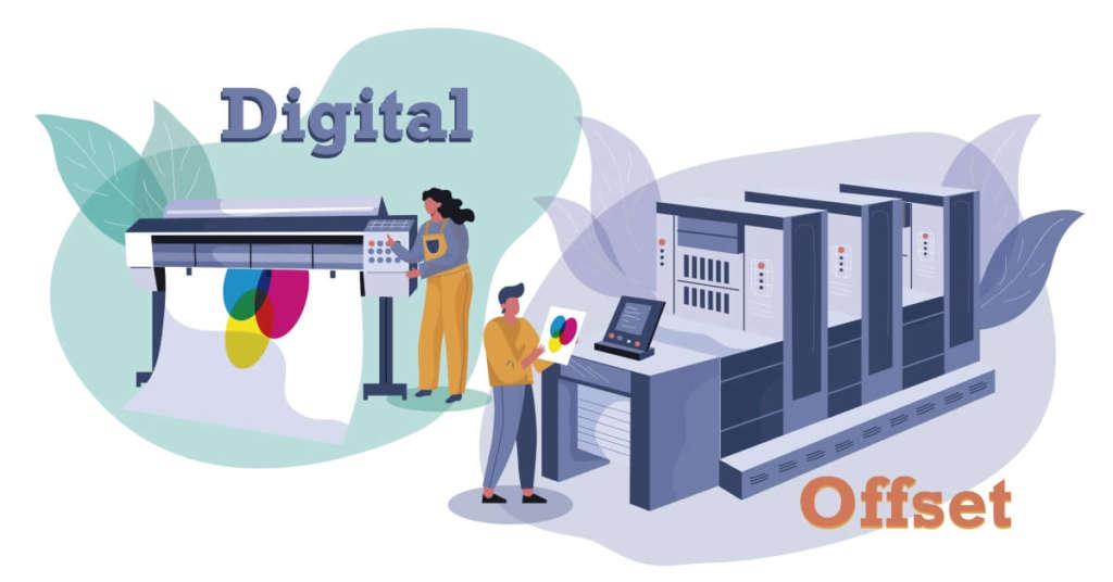 diferencia entre impresión digital y offset