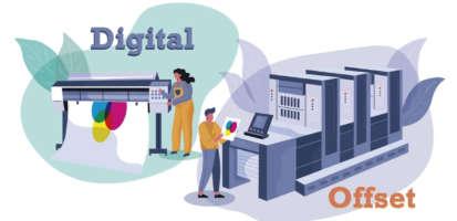 ¿Cuál es la diferencia entre la impresión Offset y la impresión Digital?