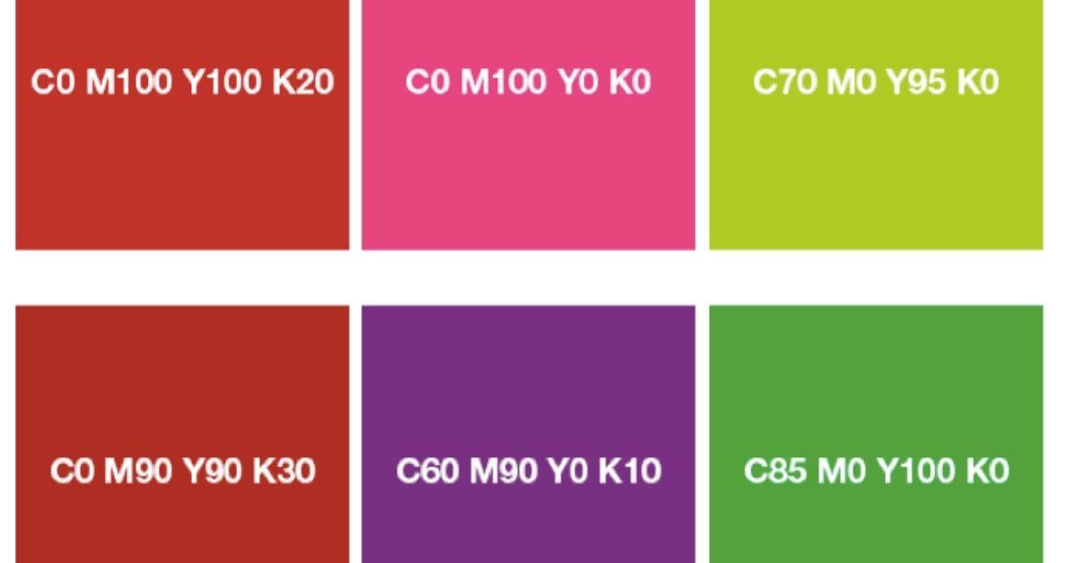 Codigos y paletas de colores CMYK