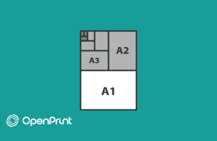 What are the most commonly used paper formats for printing?
