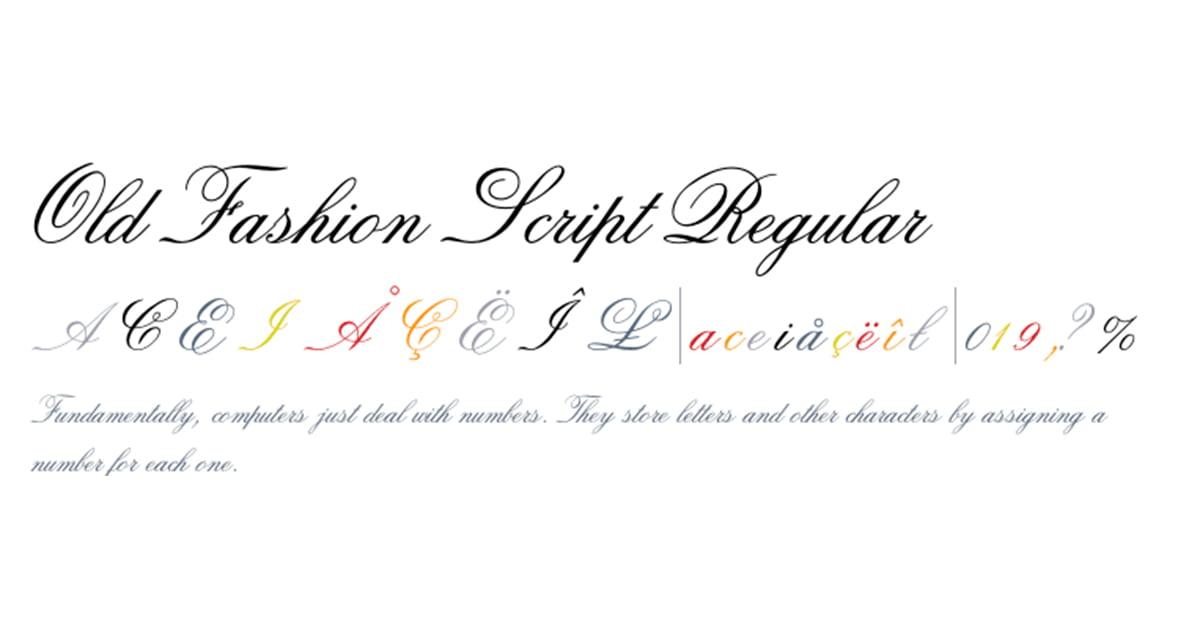 tipografia carteles old fashion script